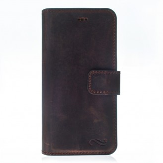 ANTIC ECHT LEDER Book Wallet Etui iPhone 7