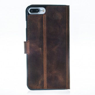 ANTIC ECHT LEDER Book Wallet Etui iPhone 7 Plus