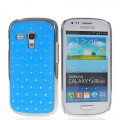 Bling Strass Glitzer Case Galaxy S3 Mini Baby Blau