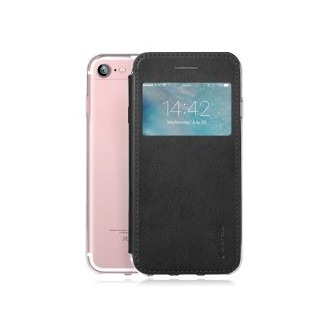 """Book Case """"G-View"""" für iPhone 7 Schwarz"""