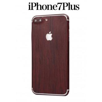 iPhone 7 Plus Holz Aufkleber Folie Sticker Skin Dunkelbraun