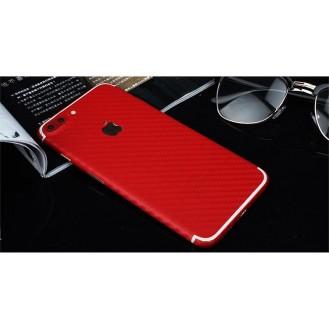 iPhone 7 Plus Carbon Aufkleber Folie Sticker Rot