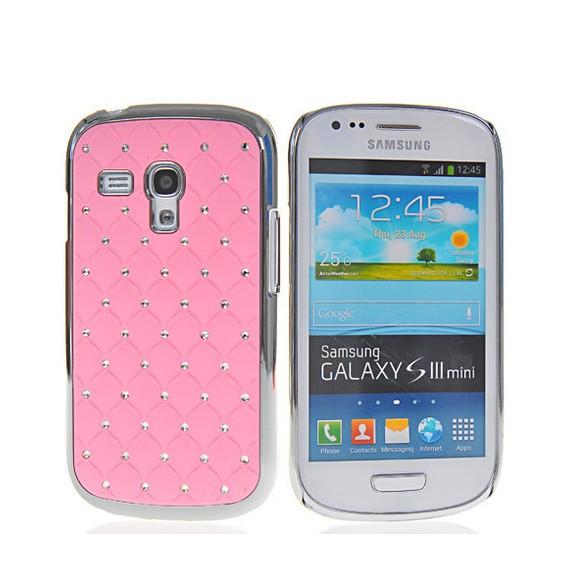 Bling Strass Glitzer Case Galaxy S3 Mini Rosa