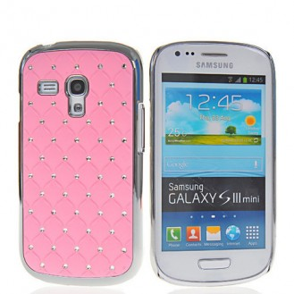 Bling Strass Glitzer Case Galaxy S3 Mini Rosa