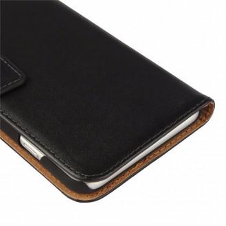 Leder Book Wallet Etui iPhone 7 Plus Orange