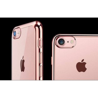Rosegold Silikon Transparent Case iPhone 7