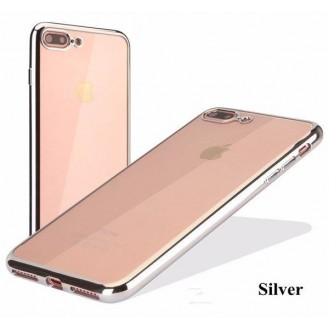 Silber Silikon Transparent Case iPhone 7