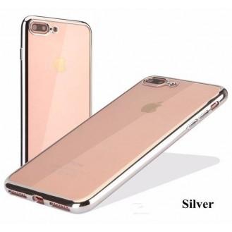 Silber Silikon Transparent Case iPhone 7 Plus