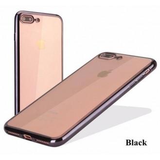 Schwarz Silikon Transparent Case iPhone 7 Plus