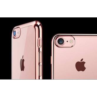 Rosegold Silikon Transparent Case iPhone 7 Plus