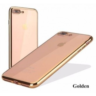 Gold Transparent Silikon Case iPhone 7 Plus