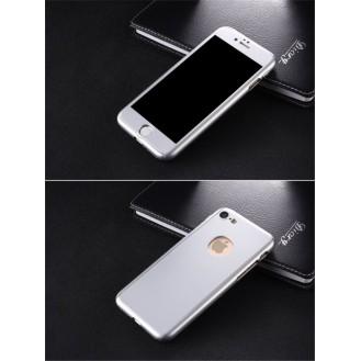 Grau 360° Full Cover Case iPhone 7 Plus + Panzerglas