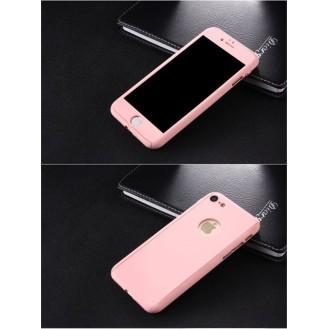 Pink 360° Full Cover Case iPhone 7 Plus + Panzerglas