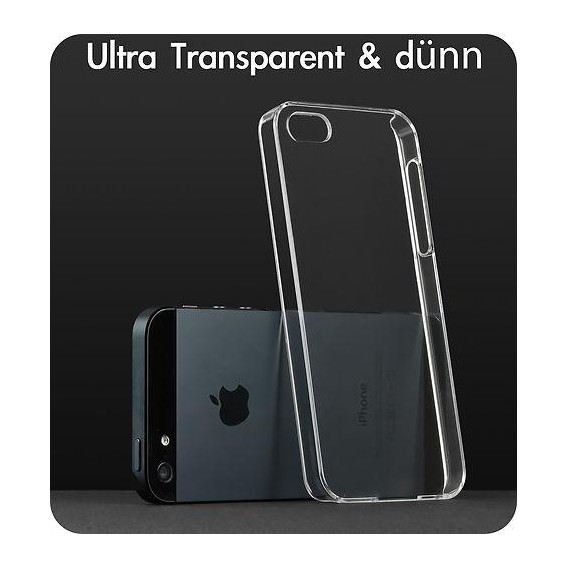 Transparent Crystal Hard Case Cover Schutzhülle iPhone 5 / 5S /
