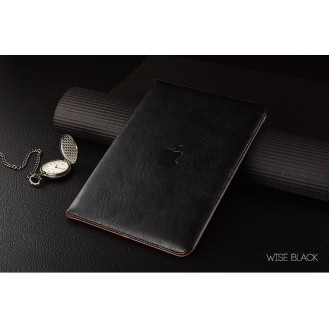 Luxus leder smart case ipad Air Schwarz