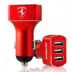 Ferrari Ladegerät 3 USB Kfz FECC3USBRE - 7.200mA Rot
