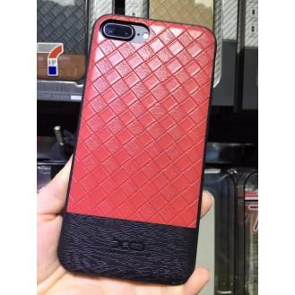 Leder Hülle Case für Apple iPhone 7 Plus Rot