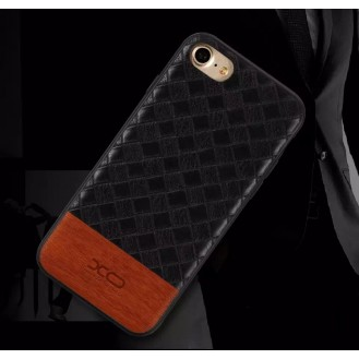 Elegantes Leder Hülle Case für Apple iPhone SE / 8 / 7 Schwarz