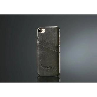 Retro Leder Hüllen Tasche  iPhone Se 2020 / 7 / 8 Schwarz