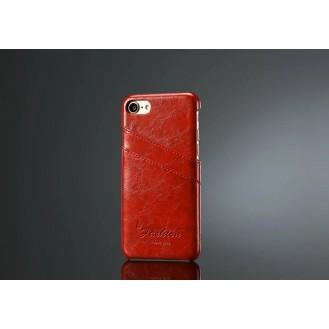Retro Leder Hüllen Tasche iPhone Se 2020 / 7 / 8 Rot