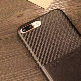Edle Leder Hülle Tasche iPhone 7 Plus Braun