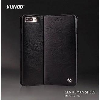 XUNDD Leder Book Hülle iPhone 7 Plus Schwarz