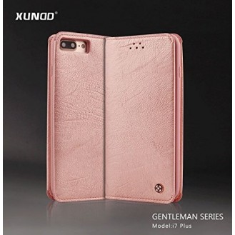 XUNDD Leder Book Hülle iPhone 7 Plus Rosa Gold