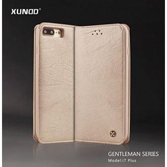 XUNDD Leder Book Hülle iPhone 7 Plus Gold