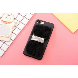 Luxus Case Bling Hülle  iPhone 7 Plus Schwarz