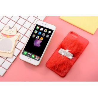 Luxus Case Bling Hülle  iPhone 7 Plus Rot