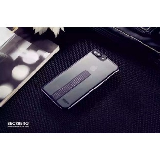 Edle Bling Hülle für iPhone 7 Plus Schwarz