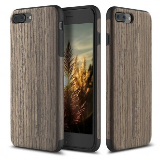 ROCK Holz Cover Hülle für iPhone 7 Plus Black Rose