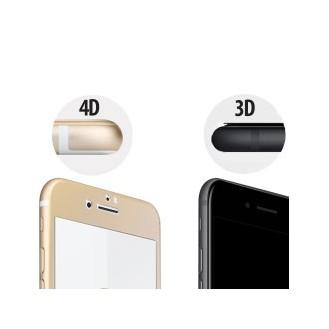 4D FULL 9H Panzerglas TEMPERED Folie iPhone 7 Schwarz