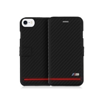 BMW Booktype Case M-Carbon für Apple iPhone 7 Black