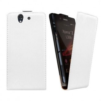 More about Weiss Flip Leder Etui Tasche Sony Xperia Z