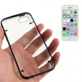 Transparent Bumper Hülle Hard Case Schwarz iPhone 5C