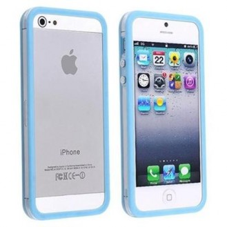 Bumper Baby Blau Transparent Schutz Hülle iPhone 5 / 5S
