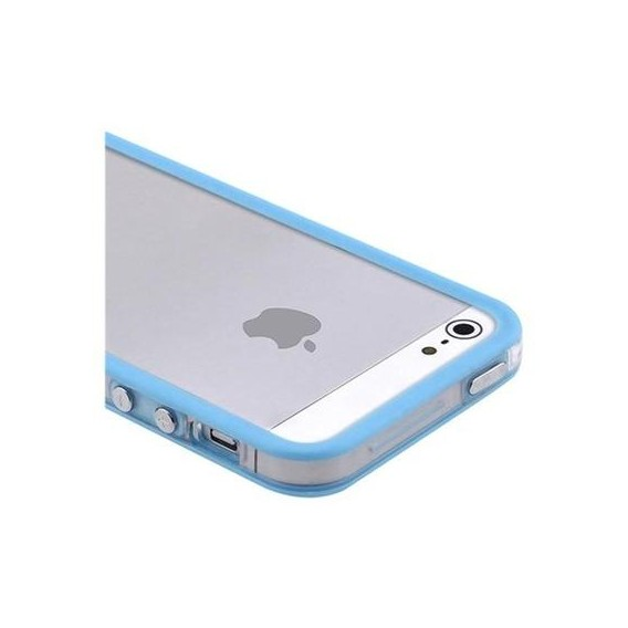 Bumper Baby Blau Transparent Schutz Hülle iPhone 5 / 5S