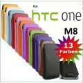 Edles Slim Pull Tab Leder Tasche Hülle Etui HTC One M8