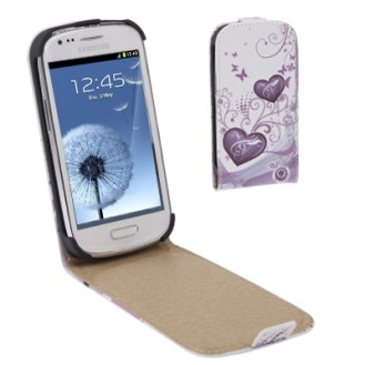 Love GALAXY S3 mini i8190 Leder Flip Etui