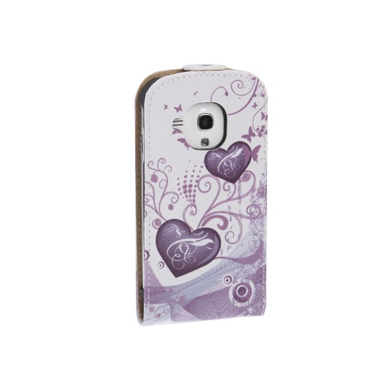 Love GALAXY S3 mini i8190 Leder Flip Etui
