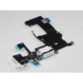 iPhone 5 Ladebuchse und Kopfhörerbuchse / Audio Flex Weiss A1428, A1429, A1442