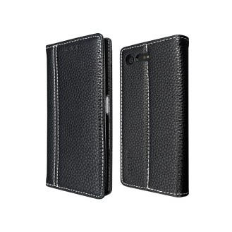 Schwarz Book Tasche Sony Xperia X Compact
