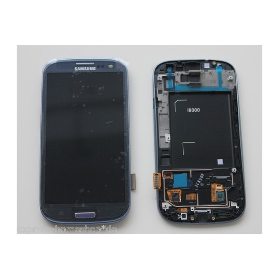 Samsung Galaxy S3 i9300 Display LCD Touchscreen Blau