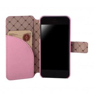 Echt Leder Book Case iPhone SE 5S 5 Bouletta
