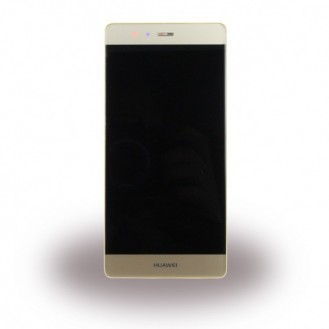 Huawei P9 LCD Display mit Rahme Gold
