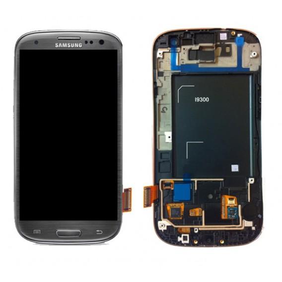 Samsung Galaxy S3 i9300 Display LCD Touchscreen Grau