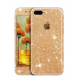 iphone 7 Plus Gold Bling Aufkleber Schutz-Folie Sticker Skin