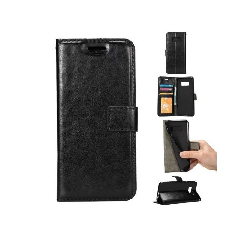book tasche case cover h lle kreditkarte samsung galaxy s8. Black Bedroom Furniture Sets. Home Design Ideas