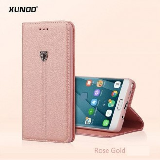 Rosa Gold Edel Leder Etui Galaxy S8